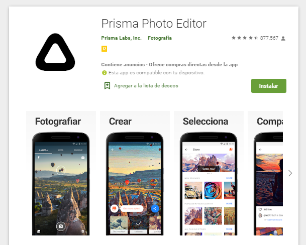 Aplicación Para Editar Fotos En El Android