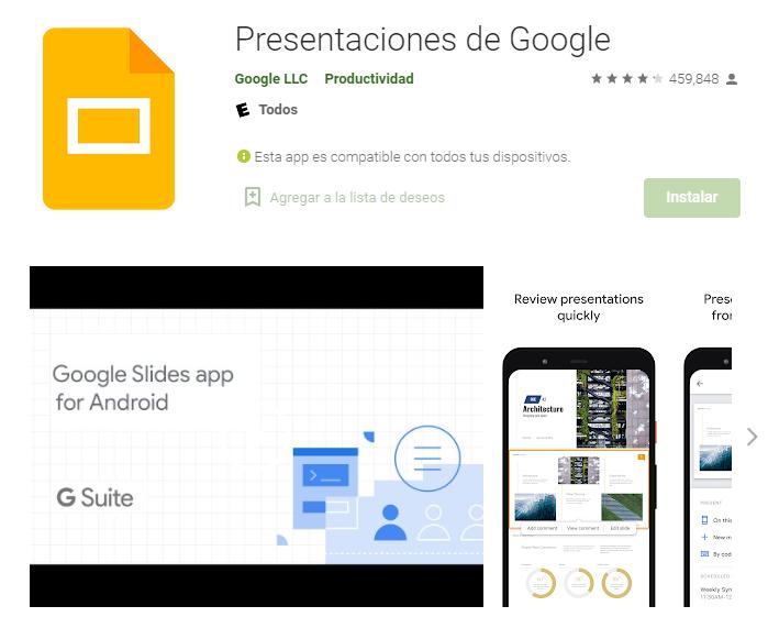 Aplicación Para Crear Diapositivas En Móvil Android